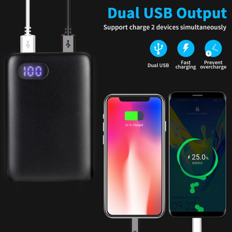 miniature 7 - 50000mAh Fast Charge Power Bank Type-C Micro input Portable Charger For IPhone